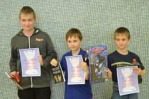 Nejlepší tři v celkovém pořadí – zleva David Zvolenský, Jakub Vojta a Štěpán Hrbek.