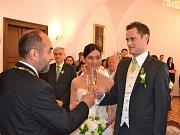 Svatba Andrey Klimovičové a Vratislava Donáta.