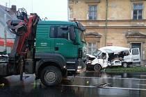 Nehoda na vlašimské křižovatce Benešovské a Divišovské ulice..