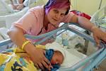Petr Huf se rodičům Kateřině a Petrovi narodil 19. července 2019 v 10 hodin a 5 minut, vážil 2640 gramů a měřil 47 centimetrů. Doma ve Voticích má sourozence Moniku (9) a Tomáše (7).