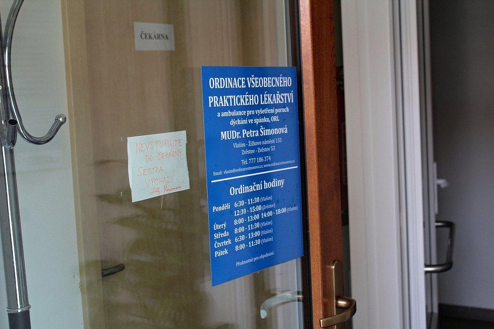 Zvěstovský DPS má v přízemí také ordinaci praktické lékařky.