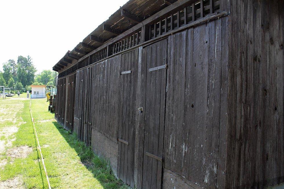 U vodní nádrže Koupadla ve volnočasovém areálu Sladovka v Benešově.