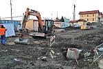 Stavba parkovacího domu v Benešově v pondělí 27. ledna 2020.