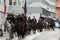 Memoriál generála Custera v ulicích Benešova.