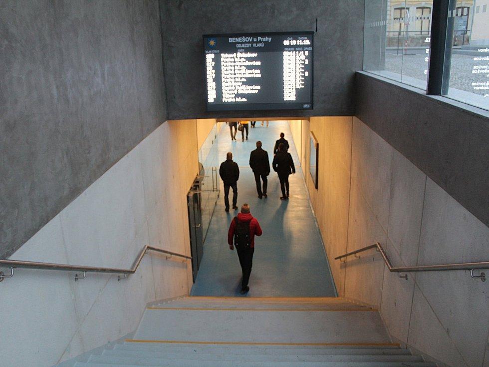 Podchod pod benešovským nádražím.