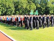 Krajská hasičská soutěž ve Vlašimi.
