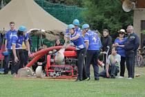 Součástí Srazu Týnců bylo i klání sborů dobrovolných hasičů. Toho se na fotbalovém hřišti v Peceradech zúčastnilo třináct družstev.