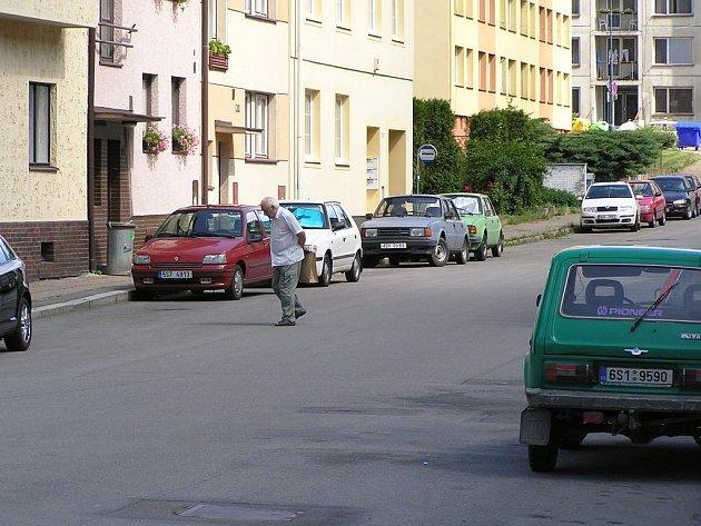 Benešovská Zapova ulice, místo činu.