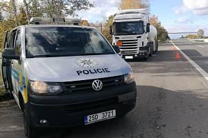 Dopravní akce zaměřená na kontrolu nákladní dopravy.