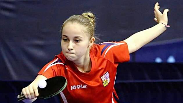 Stolní tenistka Vlašimi Anna Matějovská na Mistrovství Evropy v Bratislavě.