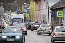 Provoz v Čechově ulici v Benešově