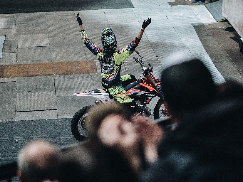 Petr Pilát vyhrál FMX Gladiator Games v Praze.