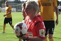 Hlavní rozhodčí Jana Adámková si svým řízením zápasu vlašimské fanoušky na svou stranu nedostala.