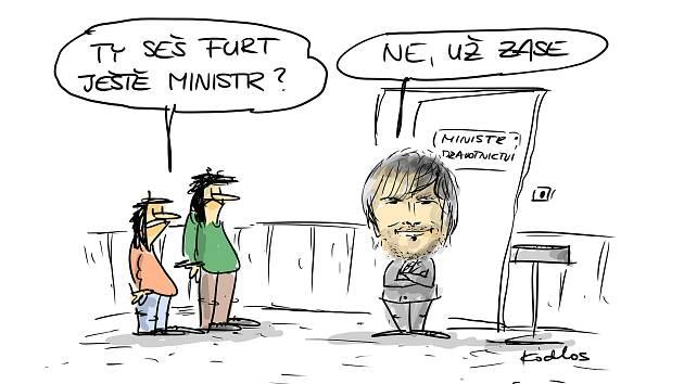 Kreslený humor Karla Hohla také k aktuální politické situaci.