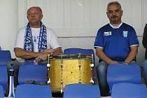 Vlašimští bubeníci zrovna radostí neoplývali, přesto neustále fandili.
