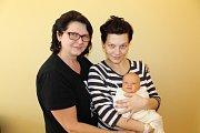 Chlapeček Kristián Tökészky se narodil 22. února v 15.32. Při narození vážil 3360 gramů a měřil 50 centimetrů. Rodiče Andrea Strompová a Marek Tökészky bydlí s miminkem v Praze. Na fotografii je Kristián s maminkou a babičkou.