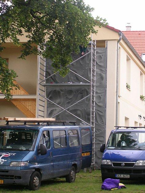 Lezecká stěna ve Vlašimi.