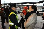Preventivní akce Vstup do kolejiště zakázán! se v Benešově uskutečnila v pátek 9. prosince ráno.