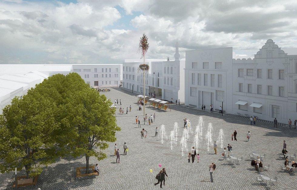Architektonická soutěž na změnu podoby Masarykova náměstí, 1. místo.
