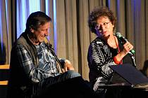 Setkání s Janou Bouškovou a Václavem Vydrou se v čerčanském kině konalo v neděli 10. září.