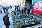 První farmářský trh v Benešově v roce 2018.