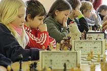Šachový turnaj žáků v Benešově.
