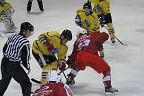 Zápas II. hokejové ligy Benešov - Žďár nad Sázavou 4:5 po prodloužení