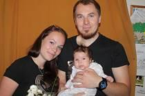 Viktorie Müllerová z Chrášťan je další vítězkou hlasování o Nejsympatičtější miminko měsíce.