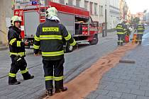 Zásah hasičů v benešovské Tyršově ulici v pátek 18. října 2019.