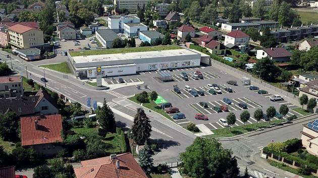 Vizualizace nové prodejny Lidl v benešovské ulici Červené Vršky.