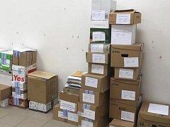 Pro uložení převezené volební dokumentace byla v budově krajského úřadu vybrána speciální místnost a převzetím dokumentace jsou pověřeni zaměstnanci Odboru správních agend a Krajského živnostenského úřadu.