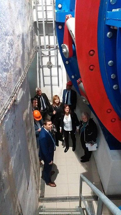 Návštěva vodní elektrárny Štvanice.