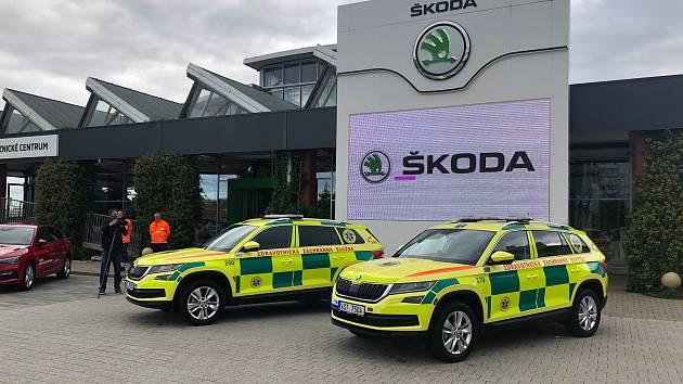 Kodiaq od Škody Auto posílí flotilu středočeské zdravotnické záchranné služby.