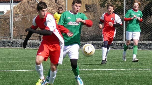 Souboj mladších dorostenců Kunic a Vlašimi skončil nerozhodně 2:2.