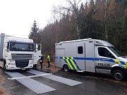 Dopravně bezpečnostní akce u Miličína na silnici E55.