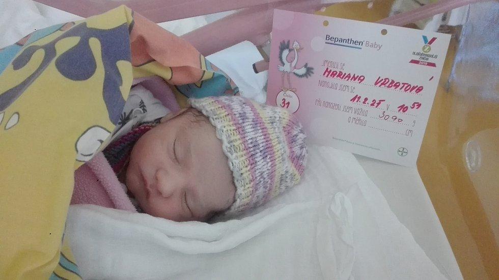Mariana Vrbatová se narodila 11. února 2021 v benešovské porodnici. Po porodu vážila 3090 g. S rodiči Sylvií Karolovou, Janem Vrbatou a sestřičkou Alžbětkou Vrbatovou bude bydlet ve Václavicích.