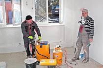 Rekonstrukce prostor pro ordinaci dětské lékařky ve Voticích.