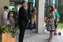 Slavnostní otevření Dětského centra Chocerady - centra komplexní péče pro znevýhodněné děti.