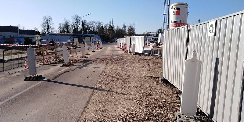 Z výstavby parkovacího domu v Benešově.
