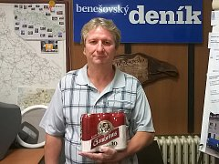 Robert Žarnecki z Benešova vyhrál první kolo TIP ligy Benešovského deníku, za což získal pivo Gambrinus.