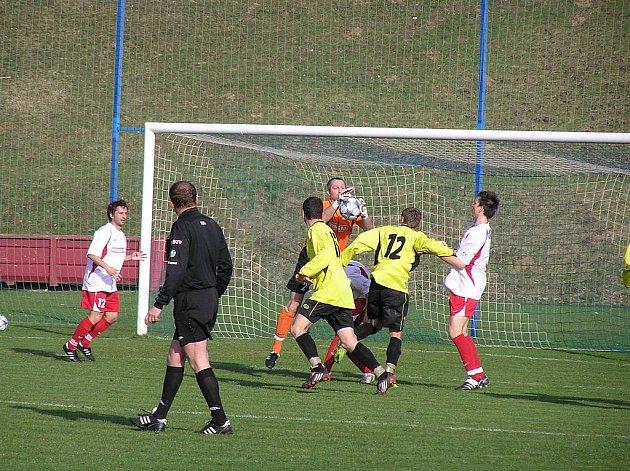 Momentka ze zápasu Votice - Domažlice 5:0.