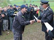 Soutěž hasičského okrsku Heřmaničky v Radíči.