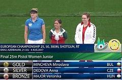 Anna Dědová vybojovala na ME stříbro.