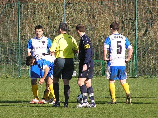 Z utkání krajského přeboru FC Graffin Vlašim B - Libiš (6:1)