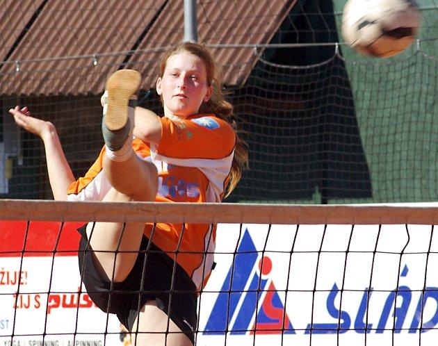 Talent Šacungu Gabriela Zachová v utkání dorostenecké ligové soutěže.