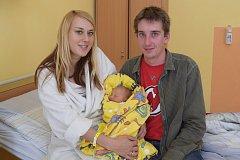 Malá Natálie Kozohorská se narodila 2. září ve2.12 sváhou 2750 gramů a mírou 48 centimetrů v benešovské porodnici. Její rodiče, Nikola Šťastná a Jakub Kozohorský, pochází zNeveklova.