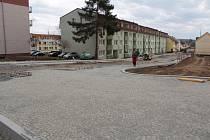 Rekonstrukce Zapovy ulice v Benešově v pátek 5. dubna 2019.