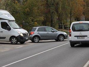 Vozidla ve směru od Tábora na Prahu mají přednost