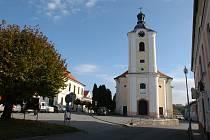 Divišov, kostel sv. Bartoloměje.
