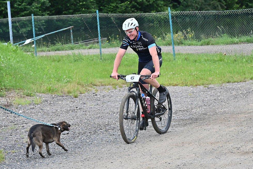 Ze závodu na horských kolech O pravý Žižkův kalich v Poříčí nad Sázavou.